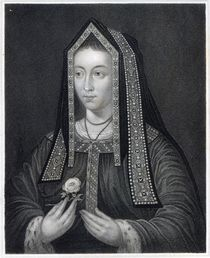 Portrait of Elizabeth of York  von William the Younger Holl