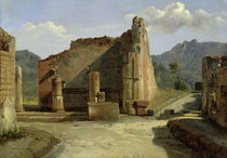 The Forum of Pompeii  by Achille Etna Michallon