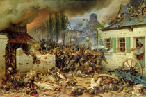 Attacking the Prussians in Plancenoit in the Battle of Waterloo by Adolf Northern