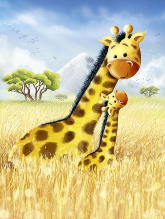 Giraffen-in-afrika