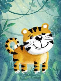 süßer Tiger im Dschungel von Stefan Lohr