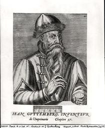 Portrait of Johannes Gutenberg  von Albrecht Mentz