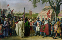 Count of Tripoli accepting the Surrender of the city of Tyre in 1124 by Alexandre-Francois Caminade