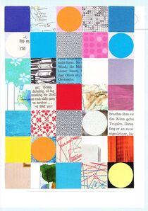 Vierecke und Kreise bunt von Doreen Trittel