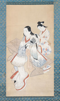 The Courtesan's Coiffure by Ando Kaigetsudo