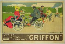 Poster advertising 'Griffon Cycles by Walter Thor