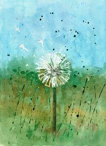 Pusteblume - Aquarell by Petra Dreiling-Schewe