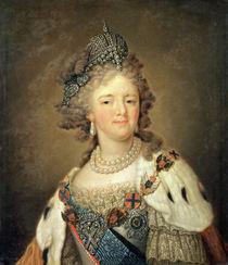 Portrait of Empress Maria Fyodorovna  by Vladimir Lukich Borovikovsky