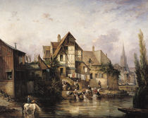 The Petits Murs Wash-House  von Victor Theophile Tesniere