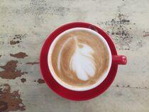 Cappuccino Tasse ROT von Doreen Trittel