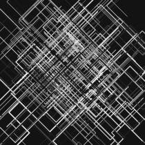 Abstraktes Linien-Netz 3 schwarzweiß von dresdner