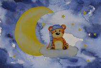 Bär auf Wolke by Nina Koock