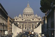 View of St. Peter's from the Via della Conciliazione  by Antonio da Sangallo