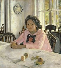 Girl with Peaches von Valentin Aleksandrovich Serov