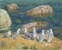 Seagulls by Arkadij Aleksandrovic Rylov