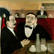 The Intellectuals at the Cafe Rotonde by Tullio Garbari