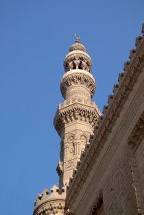 Das Minarett der ar-Rifa'i-Moschee in Cairo  / Minaret of the Al-Rifa'i Mosque in Cairo von Berthold Werner
