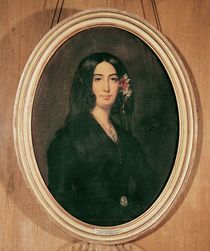 Portrait of George Sand  by Auguste Charpentier
