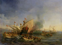 Naval Battle of Episkopi in 1323 by Auguste Etienne Francois Mayer