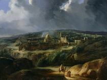 View of Jerusalem from the Valley of Jehoshaphat by Auguste Forbin