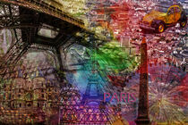 Paris Collage by Randi Grace Nilsberg