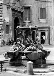 The Fontana delle Tartarughe (The Turtle Fountain) in Rome von Kostas Papaioannou