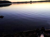 Herrlicher Sonnenuntergang am Steinberger See by Xenia Wilk