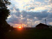Sonnenuntergang in Krondorf von Xenia Wilk