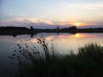 Sonnenuntergang zwischen Asbach und Schwarzenfeld by Xenia Wilk