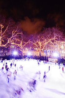 Ice skating at the Natural History Museum in London, UK. by Tom Hanslien