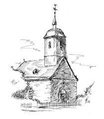 Kirche in Bringhausen, Hessen, Edersee von Kai Rohde
