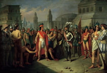 The Imprisonment of Guatimocin by the Troops of Hernan Cortes von Carlos Maria Esquivel
