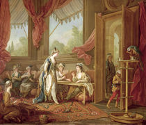 The Sultana Ordering Tapestries from the Odalisques  by Charles-Amedee-Philippe van Loo