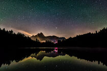 Night sky reflection in lake Urisee by raphotography88