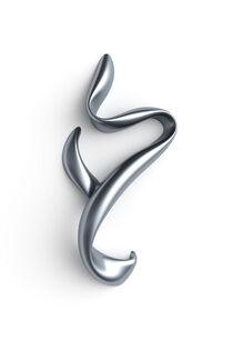 Kurviges Metall blau Hochformat von dresdner