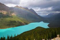Peyto Lake im Banff Nationalpark, Kanada by alfotokunst