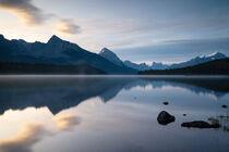 Maligne Lake, Jasper Nationalpark, Kanada by alfotokunst