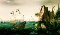 A Dutch Merchant Ship off a Rocky Coast  von Cornelis Verbeeck