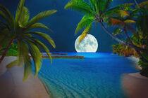 Südseeinseln im Mondschein by AD DESIGN Photo + PhotoArt