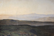 View of the Pyrenees from Plague  von Edmond Yarz