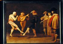Farce Actors Dancing  by Pieter Jansz. Quast