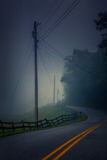 Foggy Country Road by William Schmid
