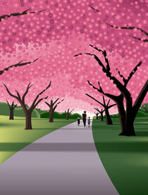 A walk beneath the Cherry Blossoms von John Tomac