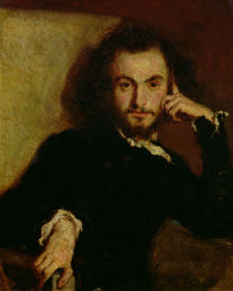 Portrait of Charles Baudelaire  by Emile Deroy