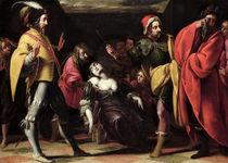 The Oath of Brutus over the Body of Lucretia  von Pier Francesco Morazzone