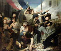 Scene of the 1830 Revolution  by Philibert Rouviere