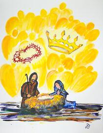 Jesu Geburt in Bethlehem von Jutta Blühberger