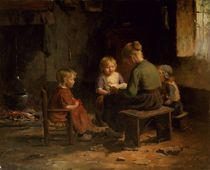 The Reading Lesson  by Evert Pieters