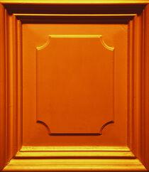 The golden orange wooden ornament by Ingo Menhard