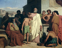 Annointing of David by Saul by Felix-Joseph Barrias